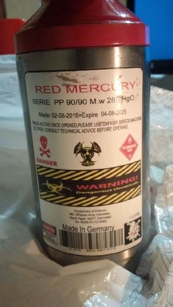 Pure Red liquid mercury for sale online